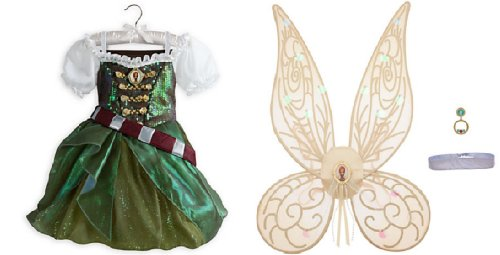 Disney Zarina the Pirate Fairy Costume for Girls Plus Wings Accessories Set - Size 3