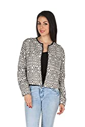 Aaliya Woman Cotton Jacquard Full Sleeve Party Jacket - Multicolor, S