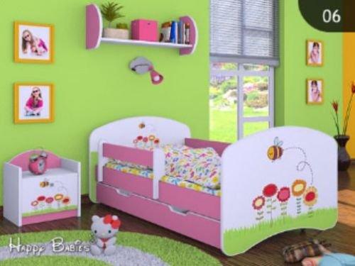 """Kinderbett """" BIENCHEN """" mit Matratze und Bettkasten 160/80 cm- NEU"""