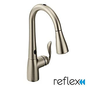 Moen 7594ESRS Arbor With Motionsense One-Handle High Arc Pulldown Kitchen Faucet Featuring Reflex, Spot Resist Stainless