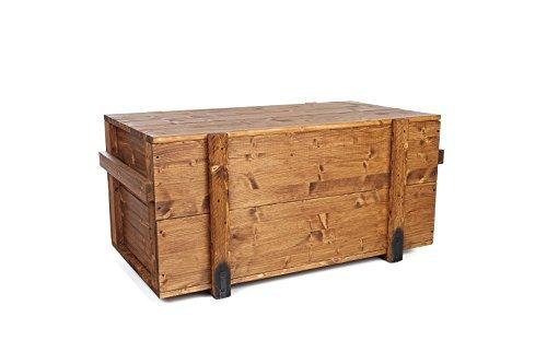 Uncle Joe's sul petto, stile Shabby Chic Vintage, in legno, colore: marrone chiaro, medio, 85 x 45 x 46 cm