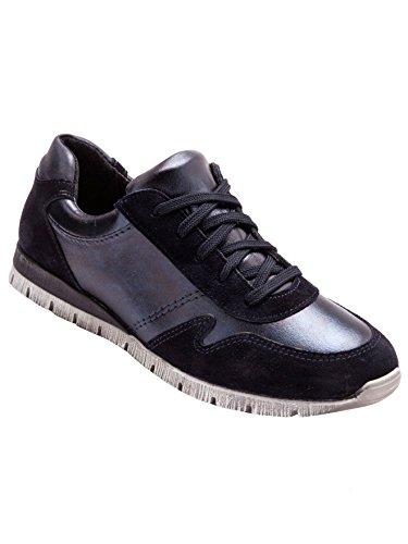 Balsamik - Sneakers basse lacci in pelle - donna - Size : 40 - Colour : Blu marino