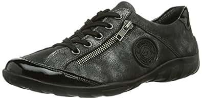 Remonte R3408 45, Sneakers Basses femme, Noir, 43 EU (9 UK)
