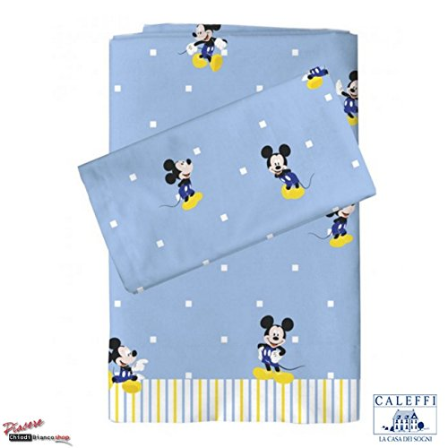Completo lenzuola per lettino bambino Topolino Disney - Caleffi