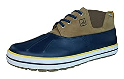 Sperry Top-Sider Men\'s Fowl Weather Chukka Rain Shoe, Navy/Dark Tan, 10.5 M US
