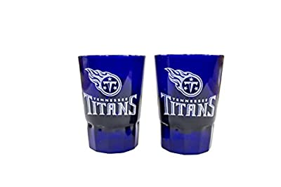 NFL Tennessee Titans 2oz Colored Plastic Collectible Shot Glass 2pk