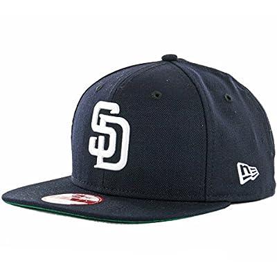 New Era 9Fifty San Diego Padres Snapback Hat (Navy/White) Men's Custom Wool Cap