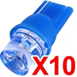10 X T10 W5W 168 194 Blue LED Car Sid...