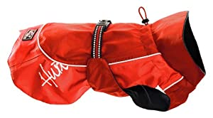 Hurtta Pet Collection Raincoat, 28-Inch Length, 25-29-Inch Neck, 39-43-Inch Chest, Red