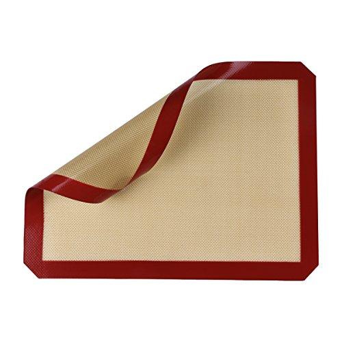 Belmalia-Plancha-de-silicona-para-bandejas-de-horno-papel-de-horno-fibra-de-vidrio-40x30cm-Rojo-Marrn