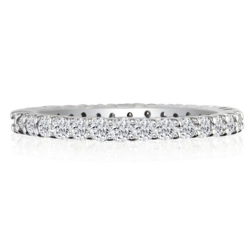 SuperJeweler 2ct Diamond Eternity Anniversary Band Ring, 14K White Gold, IJI2