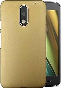 ROKAYA,rubberized finishing back cover for Xiaomi Moto E3,Golden