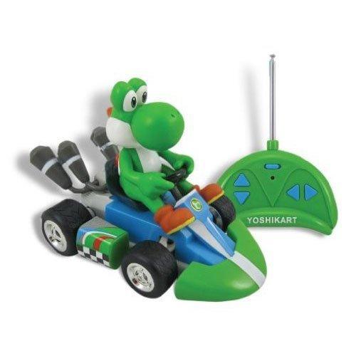 Yoshi 1/24th Scale Figure on a Radio Control Kart: Mario Kart Mini RC Kart Series