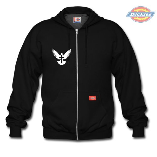 Spreadshirt, dove_cross_icon, Men's Hoodie by Dickies, black, M