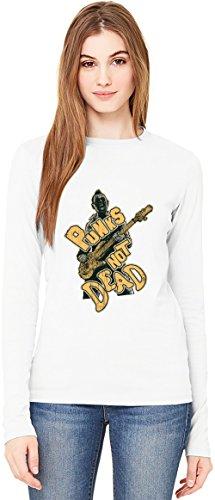 Punks not dead T-Shirt da Donna a Maniche Lunghe Long-Sleeve T-shirt For Women  100% Premium Cotton  DTG Printing  Small