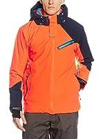 Peak Mountain Chaqueta de Esquí Calis (Naranja / Azul Oscuro)