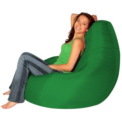 Designer Recliner Gaming Bean Bag GREEN - Indoor & Outdoor Beanbag Chair (Water Resistant) by Bean Bag Bazaar®
