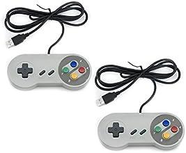 QUMOX 2x Nintendo juego de PC GamePad controlador SFC para Super Famicom Windows PC USB