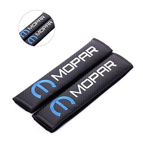 [Amooca 2pcs MOPAR Carbon Fiber Car Seat Belt Shoulders Pad Truck Cover Dodge Charger 2011-2012 JEEP] (Make Shoulder Pads Football Costume)