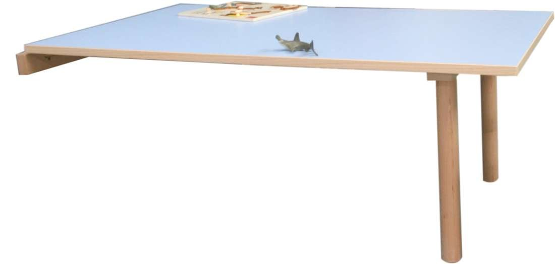 Wandklapptisch Kidz Pro, 120 x 65 cm, versch.Farben u. Höhen H 40 cm blau