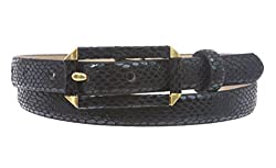 Ladies Snake Print Non leather Skinny Belt Size: S/M - 30 Color: Black