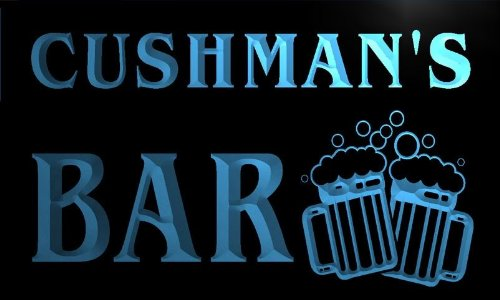 W004542-B Cushman'S Name Home Bar Pub Beer Mugs Cheers Neon Light Sign