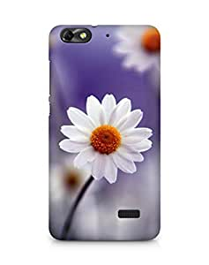 Amez designer printed 3d premium high quality back case cover for Huawei Honor 4C (daisy white flower floral)
