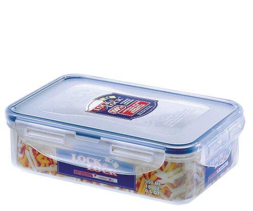2 x LOCK /& LOCK PLASTIC FOOD STORAGE LUNCH BOX CONTAINER 1L HPL817