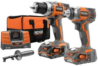 Ridgid R9602 18V Lithium-Ion Drill and Impact Driver Combo Kit