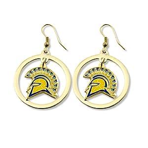 Buy NCAA San Jose State Spartans Floating Logo Hoop Earrings by aminco