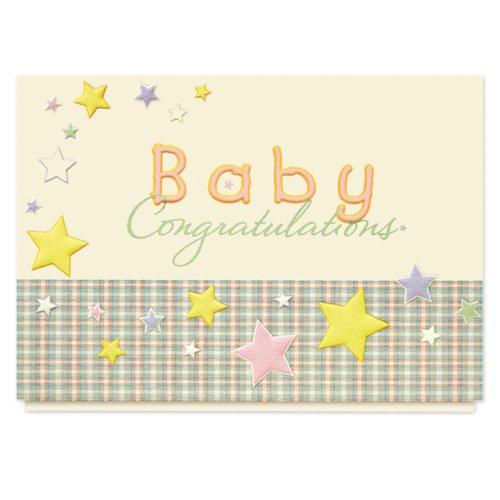 Baby Stars Congratulations Card - 25 Premium