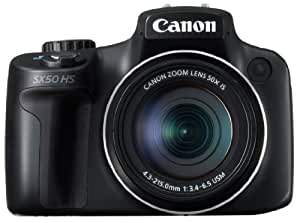 Canon デジタルカメラ PowerShot SX50HS 約1210万画素 光学50倍ズーム ブラック PSSX50HS