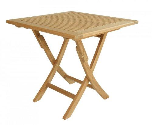 """Teak Klapptisch aus der Premium-Serie """"Brighton"""" gefertigt aus Teakholz 80×80 cm/ Teak-Tisch/ Holztisch/ Gartenmöbel/ Klapptisch/ Gartentisch/ Esstisch/ massiv/ quadratisch/ klappbar/ zusammenklappbar/ Premium-Qualität kaufen"""