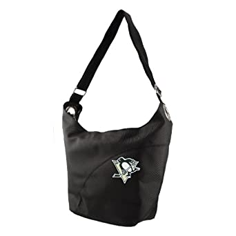NHL Pittsburgh Penguins Ladies Colo Sheen Hobo Purse, Black by Littlearth
