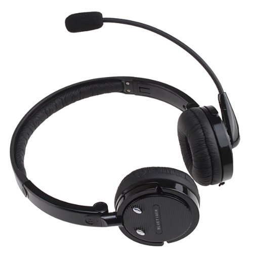 Agptek® 2 In 1 Microphone Stereo Bluetooth Headset Wireless Handsfree Nosie Canceling Headphone For Pc Ps3 Skype Cellphone Iphone 4S Ipad