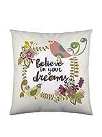 Valentina Funda De Cojín Believe (Crudo/Multicolor)