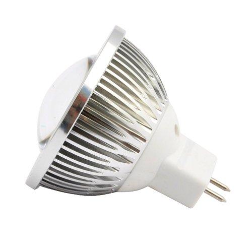 Ledwholesalers Mr16 6 Leds Mid Power Cool White Vaulted Clear Lens, Warm White,1234Ww