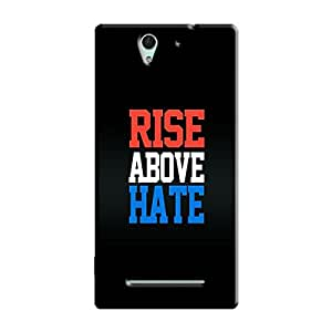 RISE ABOVE HATE BACK COVER FOR SONY XPERIA C3