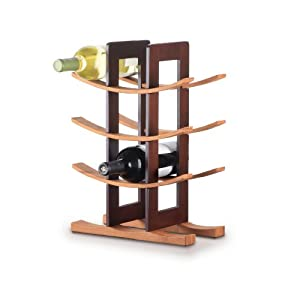 Anchor Home Collection Bamboo Wine Rack With Espresso Finish by Anchor Hocking