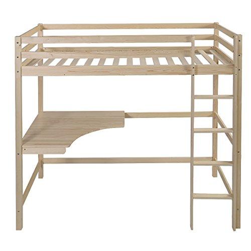 parisot kinderbett hochbett reverse mit schreibtisch buche. Black Bedroom Furniture Sets. Home Design Ideas