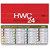 Holbein Artist's Watercolors Set of 24 5ml Tubes W405 (Color: Multicolor)