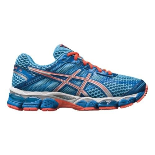 ASICS Women's GEL-Cumulus 15 Running Shoe,Turquoise/Lightning/Electric Melon,8.5 D US
