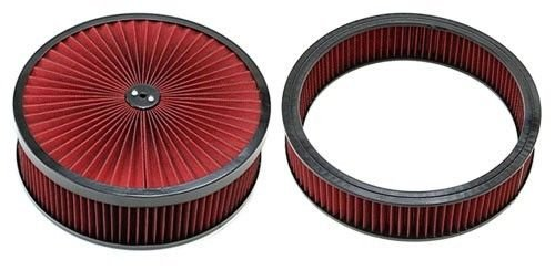 """14"""" x 4'' BLack Breather Washable Air Filter Cleaner Reusable Oiled & Element"""