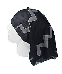 BLACK REFLECTIVE HI VISIBILITY TUBE SCARF - RUFFNEK® Multifunctional Neckwarmer, beanie hat - Designed for safety - Men, Women, Children by RUFFNEK® OUTDOORS