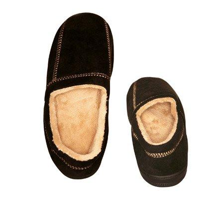 Cheap Men's Slipper Black Suede Fleece – Small (7-8) – Black – Small (7-8) (B004307LAA)