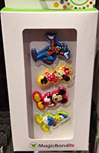 Disney Parks Standing Character Mickey Mouse Magic Band Bandits Set of 4 Charms