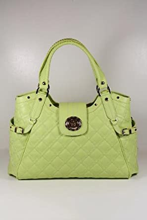 Versace Handbags Large Green Leather DBFC098