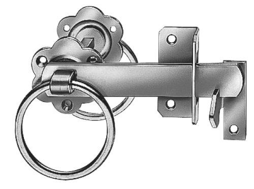 Gah-Alberts 210250 Gartentorverschluss für hohe Tore oder Flechtzauntüren, galvanisch gelb verzinkt