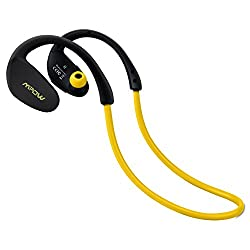 Mpow Cheetah Bluetooth 4.1 Wireless Headphones Stereo Sport Running Gym Exercise Headsets Earphones Hands-free Calling Car Earbuds-Yellow,Yellow