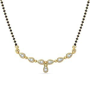 Certified 18K Yellow Gold 0.12 cttw White-Diamond (FG | VS) mangalsutra